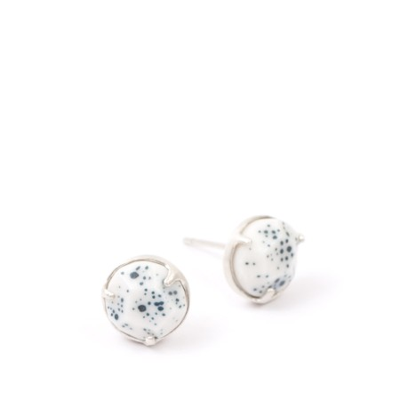 Abby Seymour Universe-Studs-Galaxy-Blue-Silver-Earrings-02
