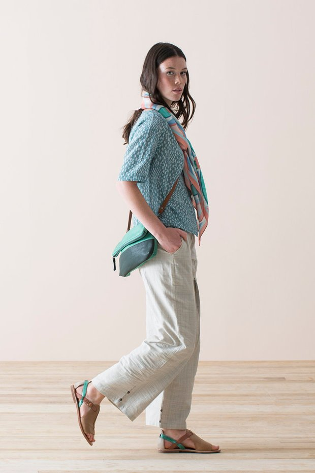 Nancybird: Zoe Sandle, Silk scarf, North bag, Heron top