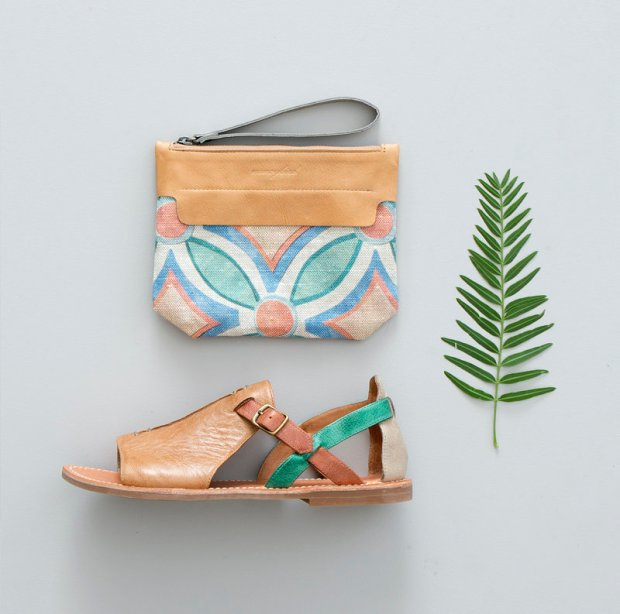 Nancybird Shape Purse and Zoe Sandle