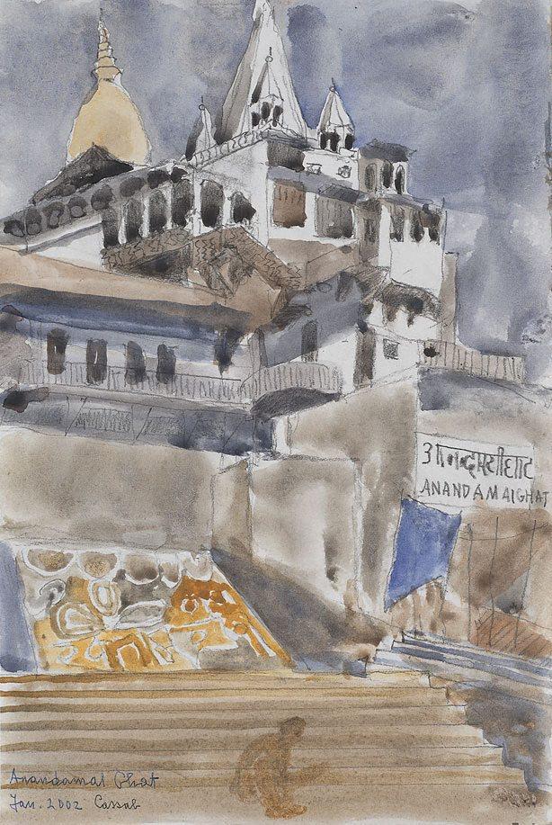 Anandamai Ghat by Judy Cassab, 2002