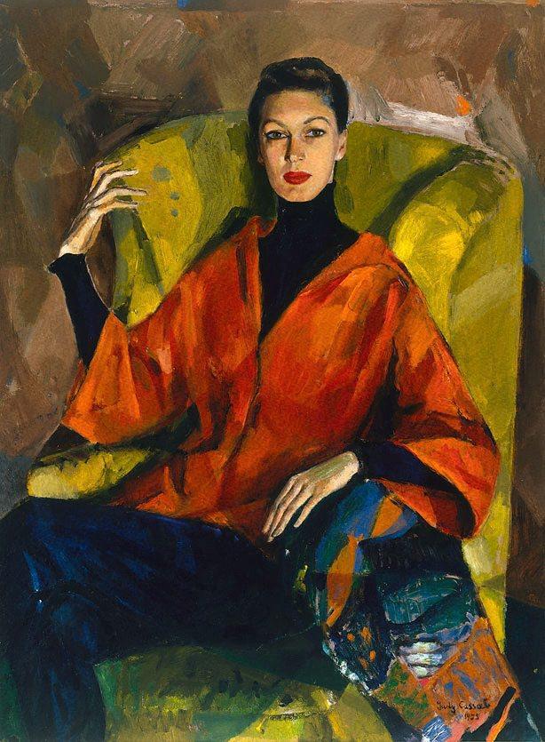 Portrait of Judy Barraclough by Judy Cassab, 1955